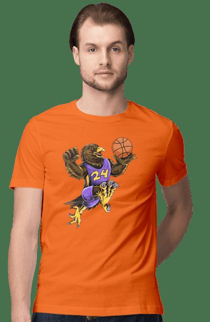 Футболка чоловіча з принтом Орел Баскетболіст. Баскетболіст, орел, спорт, спортсмен. BlackLine