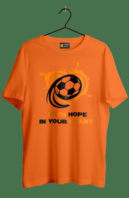 Футболка чоловіча з принтом With hope in your heart. Футбол. BlackLine