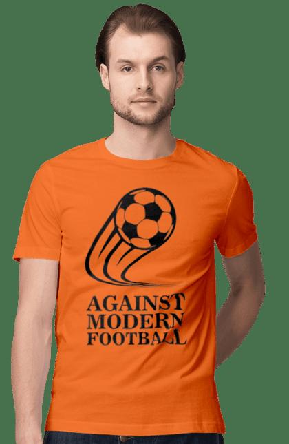 Футболка чоловіча з принтом Модерн футбол. Футбол. BlackLine