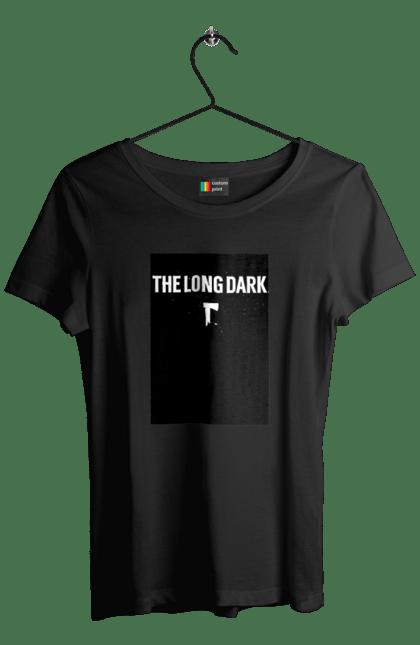 Футболка жіноча з принтом The Long Dark. The Long Dark, атрибутика, игры, простое, черный цвет. CustomPrint.market