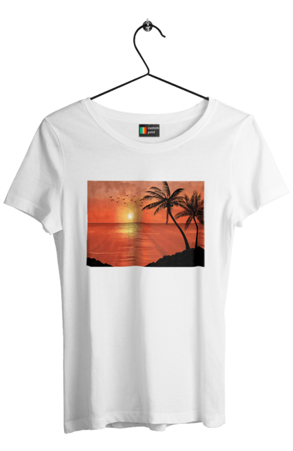 Захід Пальми Море