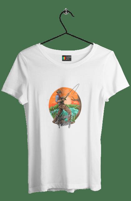 Футболка жіноча з принтом День Рибака Літня Риболовля CustomPrint.market