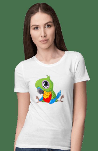Футболка жіноча з принтом Папужка