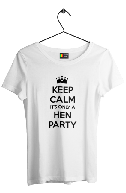 Футболка жіноча з принтом Hen party. Вечірка, дівич-вечір, наречена.