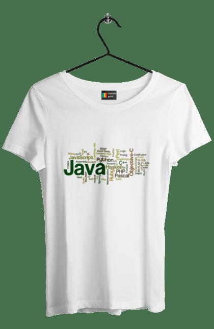 Футболка жіноча з принтом Програми Програміста. День програміста, програма, програміст. BlackLine