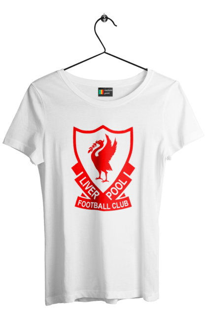 Футболка жіноча з принтом Ліверпуль BlackLine