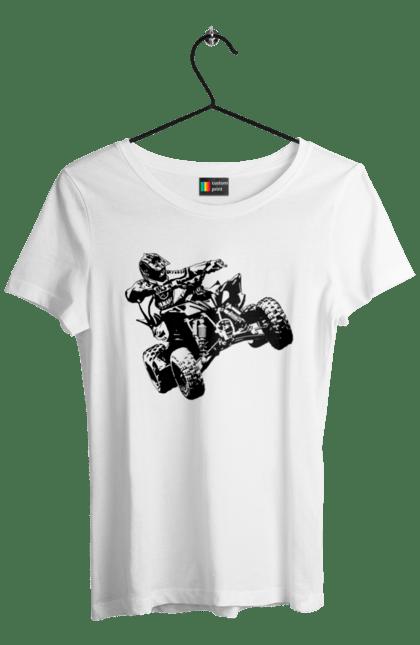 Футболка жіноча з принтом Людина На Квадроциклі Чорний BlackLine