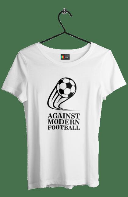 Футболка жіноча з принтом Модерн футбол BlackLine