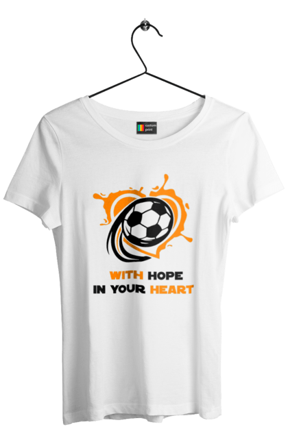 Футболка жіноча з принтом With hope in your heart BlackLine