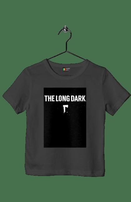 Футболка дитяча з принтом The Long Dark. The Long Dark, атрибутика, игры, простое, черный цвет. CustomPrint.market