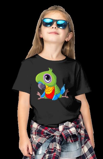 Футболка дитяча з принтом Папужка