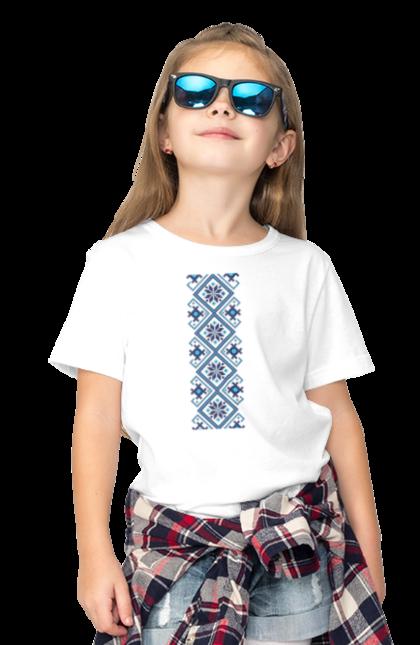 Футболка дитяча з принтом Вишиванка М1. Вишиванка, символіка, україна. BlackLine