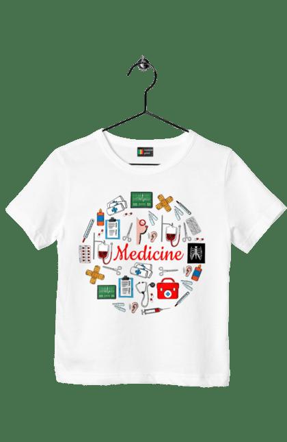 Футболка дитяча з принтом Медицина І Лікування. Лікування, медицина, укол. BlackLine