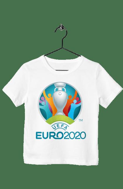 Футболка дитяча з принтом Уєфа Євро 2020. 2020, євро, уєфа, футбол.