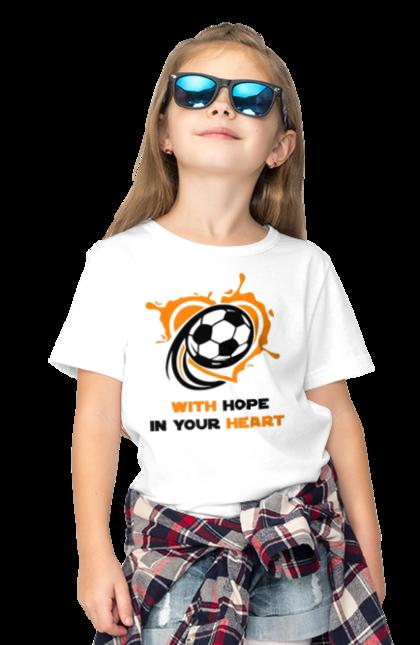 Футболка дитяча з принтом With hope in your heart BlackLine