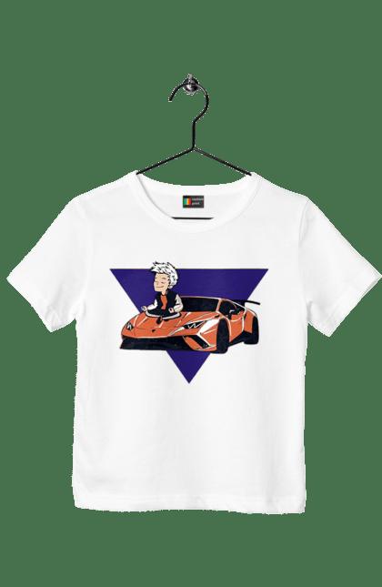 Футболка дитяча з принтом А4 Ламба. А4, блогери, машина. CustomPrint.market