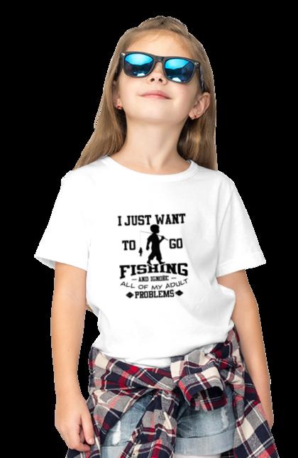Футболка дитяча з принтом День Рибалки Я Просто Йду На Риболовлю. Видпочинок, день, рибалка, риболовля, розваги, рыбаки, рыбалка, спорт, хобби.