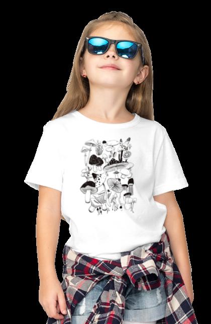 Футболка дитяча з принтом Чорні Гриби. Гриб, гриби, грибник, міхомор, осінь. CustomPrint.market