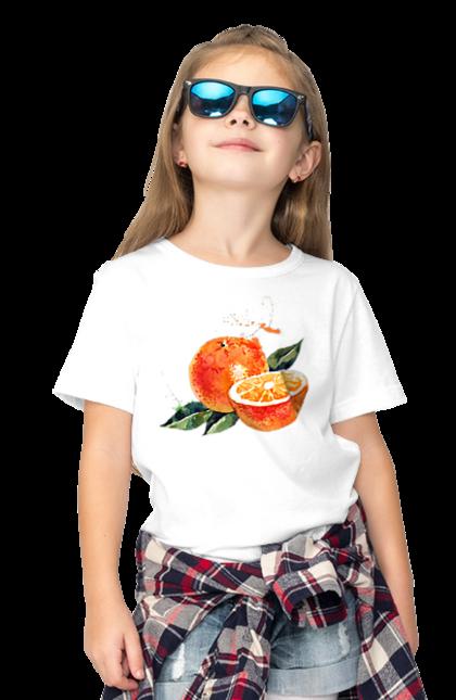Футболка дитяча з принтом Помаранчевий Апельсин. Апельсин, помаранчевий апельсин, фрукт, цитрус. CustomPrint.market