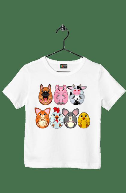 Футболка дитяча з принтом Круглі Тварини CustomPrint.market