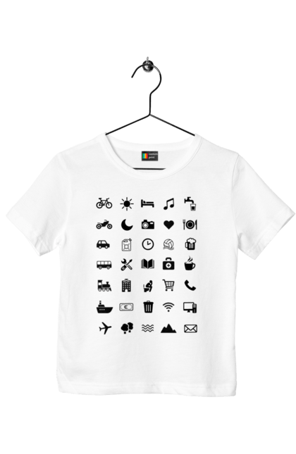 Футболка дитяча з принтом Tourist Bl. Подорож, туризм, турист. CustomPrint.market
