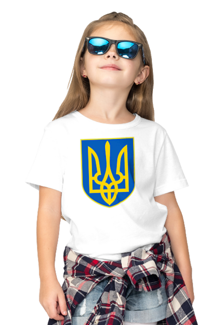 Футболка дитяча з принтом Герб України. Герб, герб україни, день конституції, день конституції україни, україна.