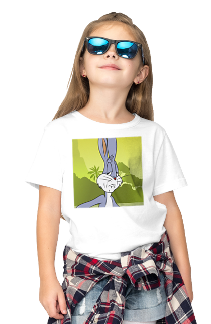 Футболка дитяча з принтом Вираз Обличчя Багз Банні. Багз, банні, вираз обличчя, емоції, заєць. CustomPrint.market