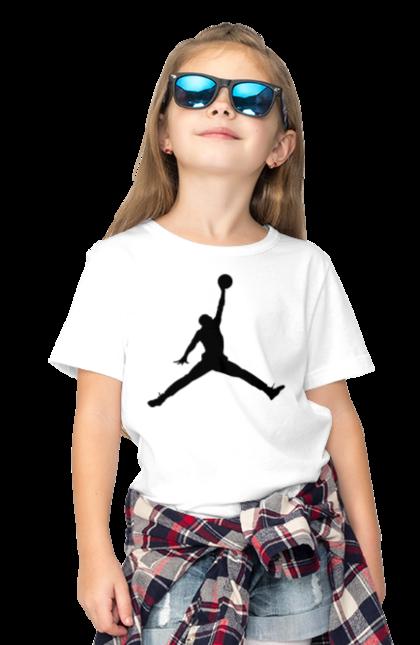 Футболка дитяча з принтом Jordan. Jordan, бренд, гра, джордан. CustomPrint.market