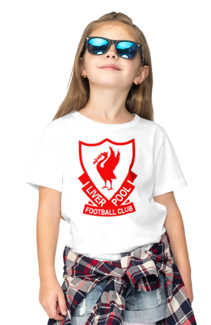 Футболка дитяча з принтом Ліверпуль BlackLine